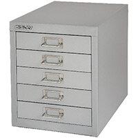 Bisley Non-Locking Multi-Drawer Cabinet 5 Drawer Grey BY42267