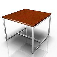 Square Reception Coffee Table Dark Cherry