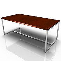 Rectangular Reception Coffee Table Dark Cherry