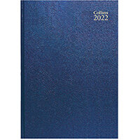 Collins A5 Desk Diary Week To View Blue 2022 35.60-22