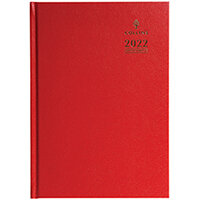 Collins A4 Desk Diary Day Per Page Appointment Red 2022 A44RED