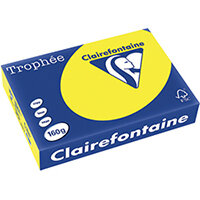 Trophee Card A4 160gm Intensive Yellow Pack of 250 1029C