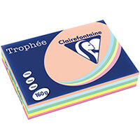 Trophee Card A4 160gm Pastel Assorted Pack of 250 1712C