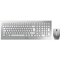 CHERRY DW 8000 Ultra Flat Wireless Keyboard/Mouse Set - 2.4GHz RF - Silver JD-0310GB