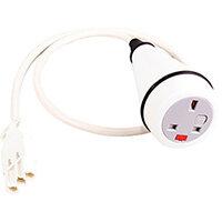 Cluster Power Module 1 x UK Socket - White