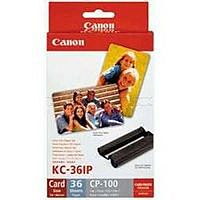 Canon KC-36IP Tri-Colour Ink Cartridge and Photo Paper Set 7739A001