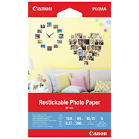 Canon Restickable Photo Paper RP-101 4x6in Pack of 5 3635C002