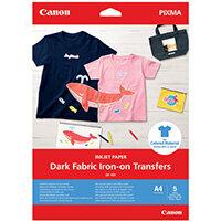 Canon Dark Fabric Iron-On Transfers A4 4006C002