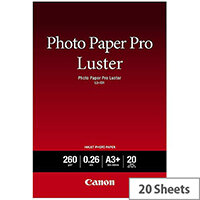 Canon A3+ Pro Luster Semi-Gloss Photo Paper (Pack of 20)