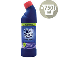 Clean&Fresh Thick Bleach Bathroom Disinfectant Cleaner 750ml Pack of 1 1016011