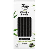 Cheeky Panda Bamboo Paper Straw Black Pack of 250 0111130