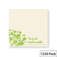 Eco Natural 33x33cm 100% Recycled Disposable 2-Ply Napkins Pack of 1350