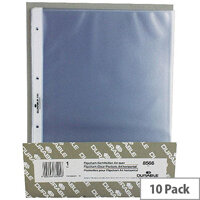 Durable Pockets for Table Top Presenter Pack of 10 A4 Landscape 80 Micron 8566