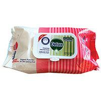 Detox Antibacterial Wipes Pine Pack of 102 Detox 102 Pine