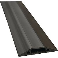 Floor Cable Cover Black 80mm Wide 1.8 Meters in Length C/W Connectors. Ideal For Use In Offices, Warehouses, Classrooms & More.