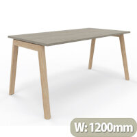 Nova Wood Home Office Desk Grey Desktop & Solid Ash Legs W1200xD700mm