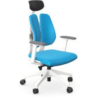 Duorest 2.0 Ergonomic Office Chair with Adjustable Curved Headrest Blue