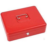 "Phoenix 12"" Cash Box CB0103K with Key Lock Red"