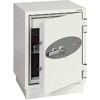 Phoenix Datacombi DS2501K Size 1 Data Safe with Key Lock White 63L 90min Fire Protection