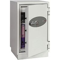 Phoenix Fire Fighter FS0442K Size 2 Fire Safe with Key Lock White 84L 60min Fire Protection