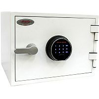 Phoenix Titan FS1281F Size 1 Fire & Security Safe with Fingerprint Lock White 19L 60min Fire Protection