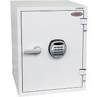 Phoenix Titan FS1283E Size 3 Fire & Security Safe with Electronic Lock White 36L 60min Fire Protection