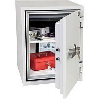 Phoenix Titan FS1283K Size 3 Fire & Security Safe with Key Lock White 36L 60min Fire Protection