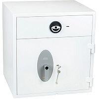 Phoenix Diamond Deposit HS1091KD Size 1 High Security Euro Grade 1 Deposit Safe with Key Lock White 112L