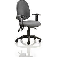 Eclipse III Lever Task Operator Office Chair Charcoal With Height Adjustable Arms