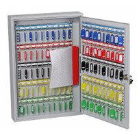 Phoenix Commercial Key Cabinet KC0601K 42 Hook with Key Lock. Light Grey