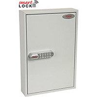 Phoenix Commercial Key Cabinet KC0602N 64 Hook with Net Code Electronic Lock. Light Grey