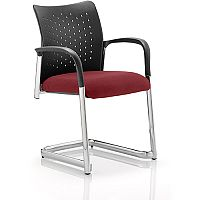 Academy Boardroom & Visitor Chair Cantilever Chilli Red