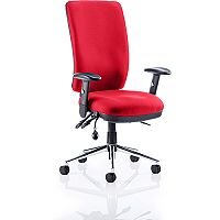 Chiro High Back Task Operator Office Chair Cherry Red