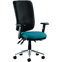 Chiro High Back Task Operator Office Chair Kingfisher Green Seat