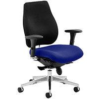 Chiro Plus High Back Ergonomic Posture Office Chair Black Back & Serene Blue Seat