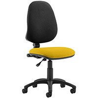 Eclipse I Lever Task Operator Office Chair Sunset Yellow Seat
