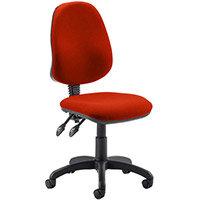 Eclipse II Lever Task Operator Office Chair Pimento Rustic Orange