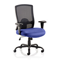 Portland HD - Heavy Duty - Mesh Back Task Operator Office Chair - Robust Frame, Large Seat & Back - Max Weight 32 Stone/203kg - Serene Blue