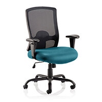 Portland HD - Heavy Duty - Mesh Back Task Operator Office Chair - Robust Frame, Large Seat & Back - Max Weight 32 Stone/203kg - Kingfisher Green