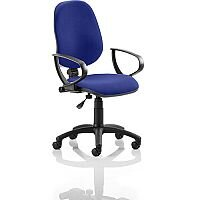 Eclipse I Lever Task Operator Office Chair With Loop Arms In Serene Blue