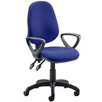 Eclipse II Lever Task Operator Office Chair With Loop Arms In Serene Blue