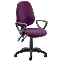 Eclipse II Lever Task Operator Office Chair With Loop Arms In Purple