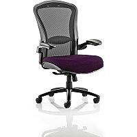 Houston Heavy Duty Task Operator Office Chair Black Mesh Back Purple Seat - Weight Tolerance: 203kg
