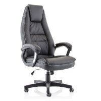 Lenox Executive Office Chair - High Back - Black - Leather Look - Weight Tolerance: 120kg