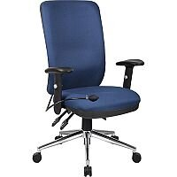 Chiro High Back Task Operators Office Chair Blue With Arms