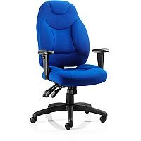 Galaxy Task Operator Office Chair Blue Fabric With Arms