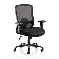 Portland HD - Heavy Duty - Mesh Back Task Operator Office Chair - Robust Frame, Large Seat & Back - Max Weight 32 Stone/203kg - Black
