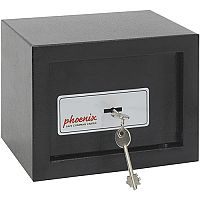 Phoenix SS0721K Compact Home Office Security Safe 4L With Key Lock Black