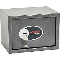 Phoenix Vela Home & Office SS0802K Size 2 Security Safe with Key Lock Metalic Graphite 17L