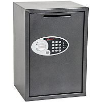 Phoenix Vela Deposit Home & Office SS0804ED Size 4 Security Safe with Electronic Lock Metalic Graphite 51L